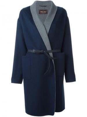 Пальто с поясом Loro Piana. Цвет: синий