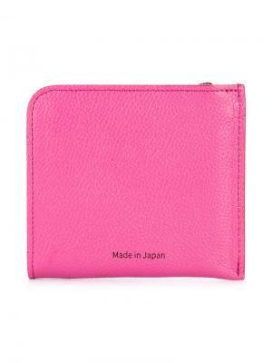 Бумажник с логотипом и застежкой-молнией H Beauty&Youth. Цвет: розовый и фиолетовый