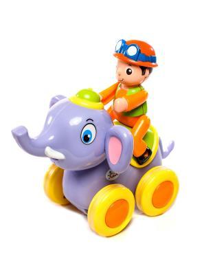 Игрушка Зверюшка на колесах HUILE. Цвет: сливовый
