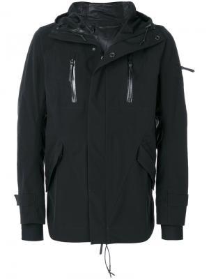 Спортивная куртка с принтом 11 By Boris Bidjan Saberi. Цвет: чёрный
