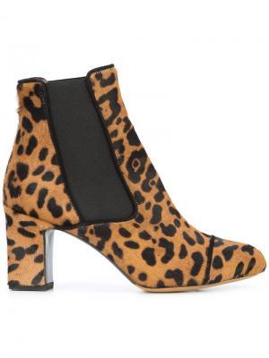 Leopard print Kiki boots Tabitha Simmons. Цвет: коричневый