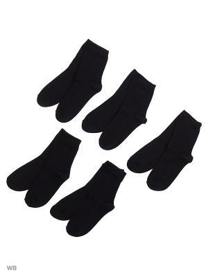 Носки детские (5 пар) HOSIERY. Цвет: черный