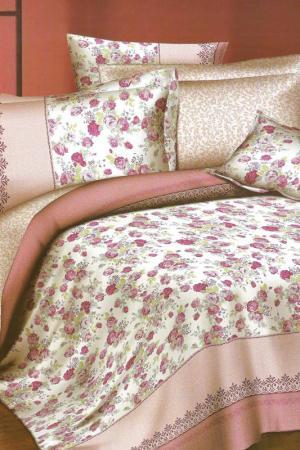 Постельное бельё 2 сп BegAl. Цвет: розовый, белый, зеленый
