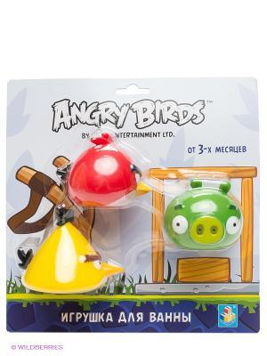 Игровой набор для ванны ANGRY BIRDS. Цвет: красный, желтый, зеленый