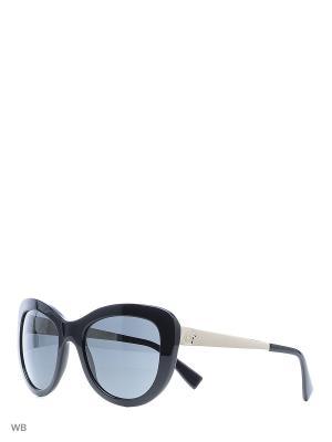 Очки солнцезащитные Versace. Цвет: черный, бежевый
