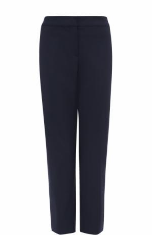 Укороченные брюки прямого кроя St. John. Цвет: темно-синий