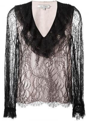 Блузка c V-образным вырезом Alexis. Цвет: чёрный