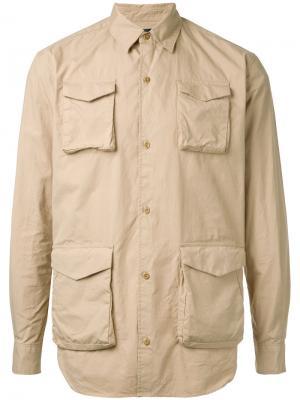 Рубашка с карманом спереди Undercover. Цвет: телесный