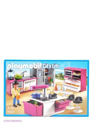 Современная дизайнерская кухня Playmobil. Цвет: голубой