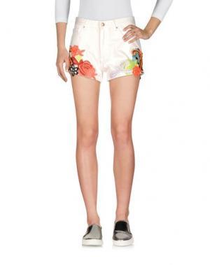 Джинсовые шорты ELLA LUNA. Цвет: белый