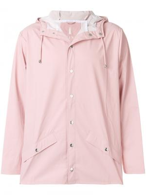 Классический плащ Rains. Цвет: розовый и фиолетовый