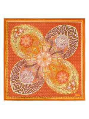 Платок Eleganzza. Цвет: салатовый, коричневый, оранжевый, розовый, светло-серый