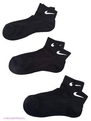 Носки 3PPK CUSHION QUARTERL Nike. Цвет: черный