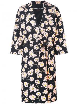 Floral print midi coat Rochas. Цвет: чёрный