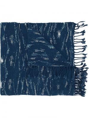 Тканый шарф Denham. Цвет: синий