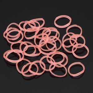 Набор резинок для плетения браслетов  арт. БПР-109 Бусики-Колечки. Цвет: коралловый