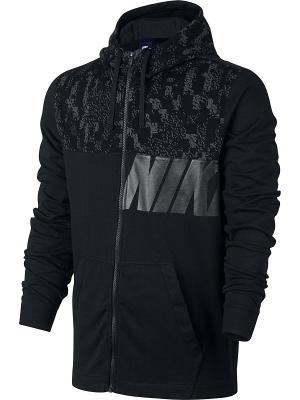 Толстовка M NSW HOODIE JSY CLUB GFX Nike. Цвет: черный, антрацитовый