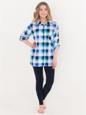 Рубашка Лори. Цвет: голубой