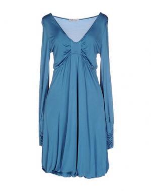 Короткое платье MISS MONEY. Цвет: лазурный