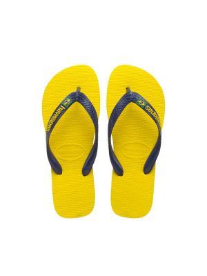 Шлепанцы HAVAIANAS BRASIL LOGO. Цвет: желтый