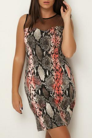 Платье CLAUDIA MILLEN. Цвет: мультицвет