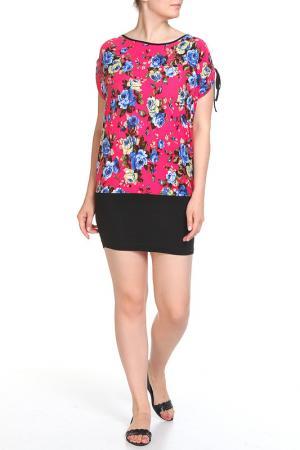 Платье домашнее Розалия LAVELLE. Цвет: ярко-розовый