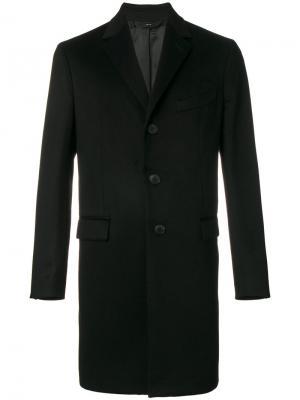 Пальто на пуговицах Hevo. Цвет: чёрный