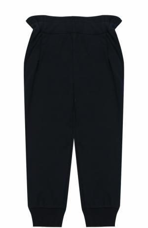 Спортивные брюки с эластичными манжетами и широким поясом Fendi Roma. Цвет: синий
