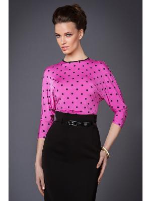 Блуза Арт-Деко. Цвет: розовый, черный