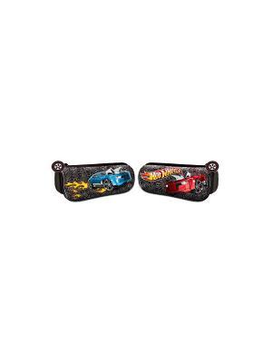 Пенал-тубус со скругленными углами Hot Wheels черный Mattel. Цвет: черный
