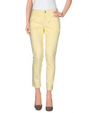 Повседневные брюки DEPARTMENT 5. Цвет: светло-желтый