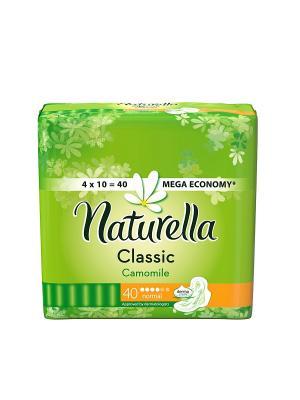 Гигиенические прокладки с крылышками, ароматизированные, Camomile Normal, 40шт. NATURELLA. Цвет: салатовый