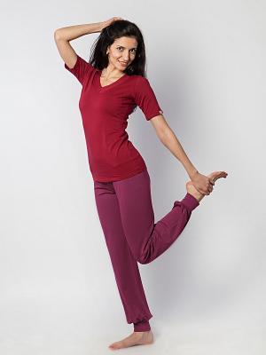 Штаны женские Классика yogadress. Цвет: лиловый