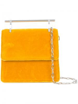 Top-bar shoulder bag M2malletier. Цвет: жёлтый и оранжевый