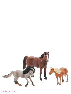 Игровой набор Лошади Happy Kin. Цвет: коричневый