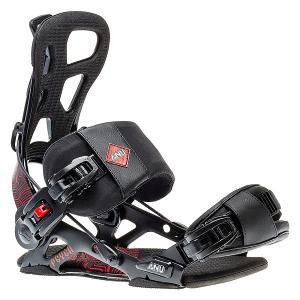 Крепления для сноуборда  Psych Black/Red GNU. Цвет: черный