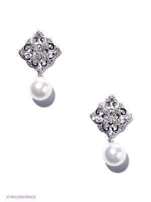 Серьги Royal Diamond. Цвет: серебристый, белый
