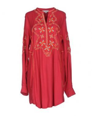 Короткое платье CHRISTOPHE SAUVAT. Цвет: пурпурный