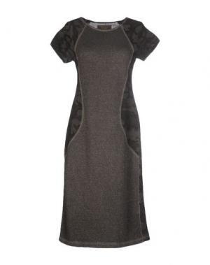 Платье до колена SWEET ROSEE. Цвет: свинцово-серый