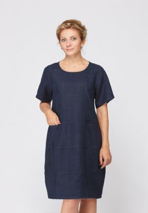 Платье Kayros. Цвет: синий
