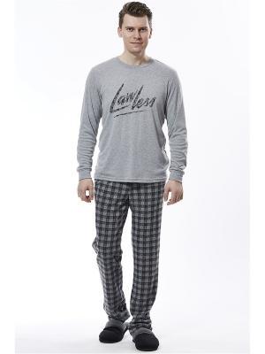 Пижама с брюками RELAX MODE. Цвет: серый