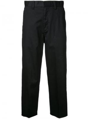 Укороченные брюки Cityshop. Цвет: чёрный