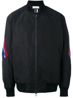 Куртка-бомбер с полосками Facetasm. Цвет: чёрный