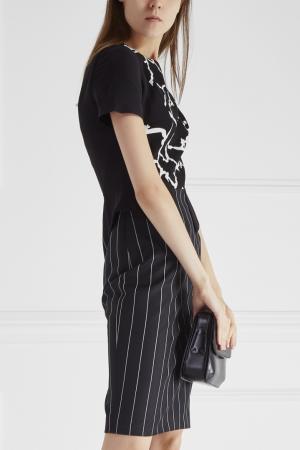 Платье Versace. Цвет: черно-белый