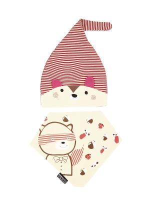 Комплект детский-шапка/косынка Оланж Ассорти. Цвет: бежевый
