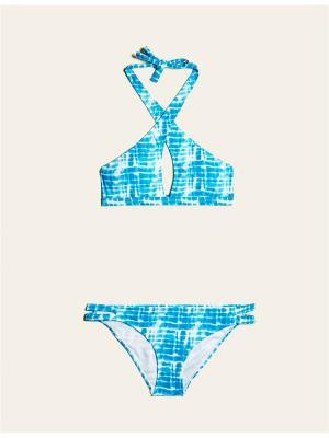 Купальник Jennyfer. Цвет: голубой, белый