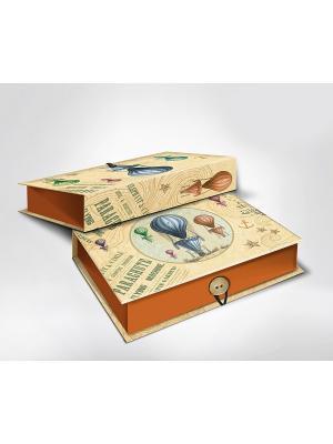 Подарочная шкатулка-коробка ВОЗДУШНЫЙ ШАР M Magic Home. Цвет: голубой, коричневый, кремовый