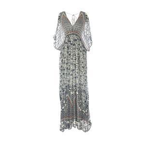 Платье длинное, с длинными рукавами RENE DERHY. Цвет: наб. рисунок синий