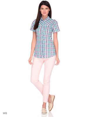 Рубашка Magwear. Цвет: бирюзовый
