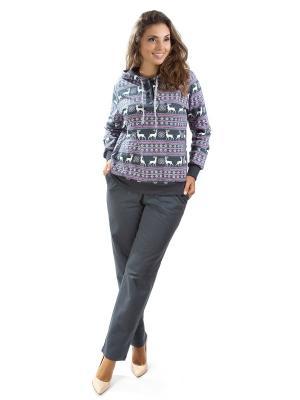 Костюм с брюками Алтекс.. Цвет: серый
